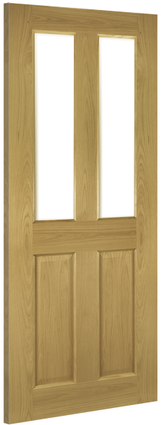 Deanta Pre Finished Oak Bury Clear Glazed Door